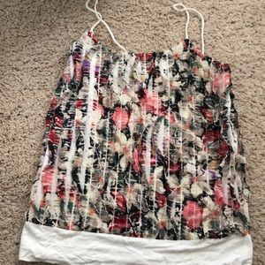 Ruffle multi color tank